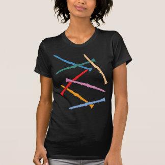 カラフルなクラリネット Tシャツ