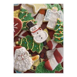 カラフルなクリスマスのクッキー カード