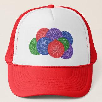 カラフルなクリスマスの球-抽象的な帽子 キャップ