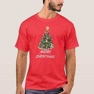 カラフルなクリスマスツリー: ベクトル芸術: Tシャツ