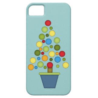 カラフルなクリスマスツリー iPhone SE/5/5s ケース