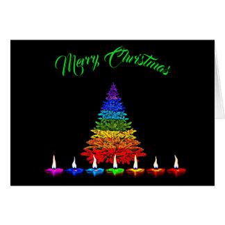 カラフルなクリスマス カード
