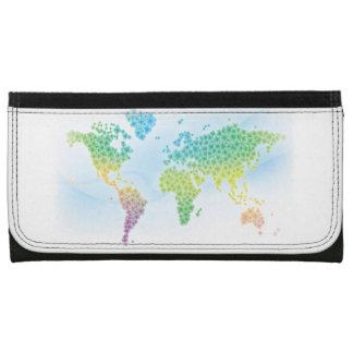カラフルなクローバーの世界地図