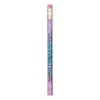カラフルなグリッターのプリントの文字のテンプレート 鉛筆