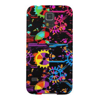 カラフルなコグおよびギアのPopartの電話箱 Galaxy S5 ケース
