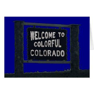 カラフルなコロラド州の喜ばしい徴候カスタマイズ可能なカード カード