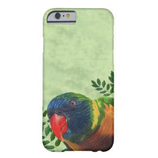 カラフルなコンゴウインコのオウムの葉 BARELY THERE iPhone 6 ケース