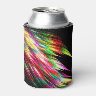 カラフルなコンゴウインコはフラクタルのクーラーボックスに羽をつけます 缶クーラー