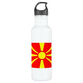 カラフルなコントラストのマケドニア人の旗 ウォーターボトル