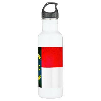 カラフルなコントラストの北Carolinianの旗 ウォーターボトル