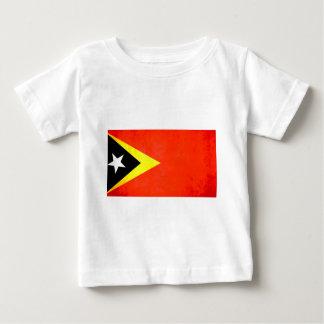 カラフルなコントラストのTimorese旗 ベビーTシャツ