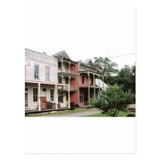 カラフルなゴーストタウンの建物 ポストカード