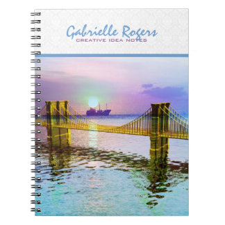 カラフルなゴールデンゲートブリッジの景色2 ノートブック