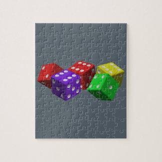 カラフルなサイコロ ジグソーパズル