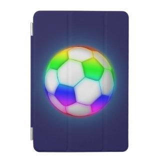 カラフルなサッカー|のフットボールのスポーツ iPad MINIカバー