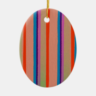 カラフルなサーカスのピエロは縞で飾ります セラミックオーナメント