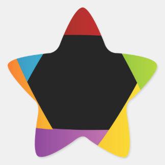 カラフルなシャッター開きの背景 星シール