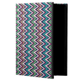 カラフルなジグザグ形のシェブロンの幾何学的なパターン POWIS iPad AIR 2 ケース