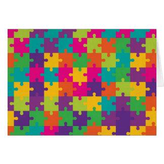 カラフルなジグソーパズルパターン カード