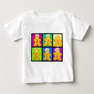 カラフルなジンジャーブレッドマン ベビーTシャツ