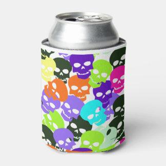 カラフルなスカル 缶クーラー