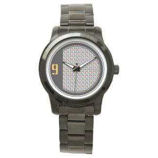 カラフルなスカル 腕時計