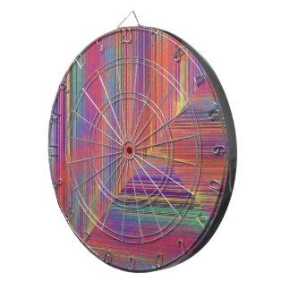 カラフルなストライプおよびタイルのデザインの投げ矢板 ダーツボード