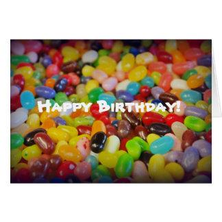 カラフルなゼリー菓子の誕生日 カード
