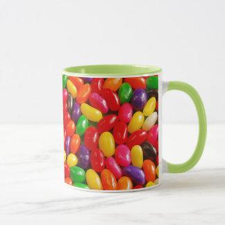 カラフルなゼリー菓子パターンマグ マグカップ