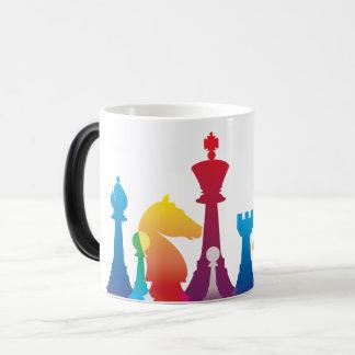 カラフルなチェスのマグ モーフィングマグカップ
