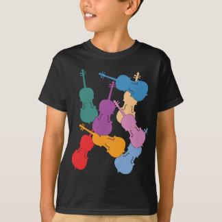 カラフルなチェロ Tシャツ