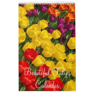 カラフルなチューリップ カレンダー