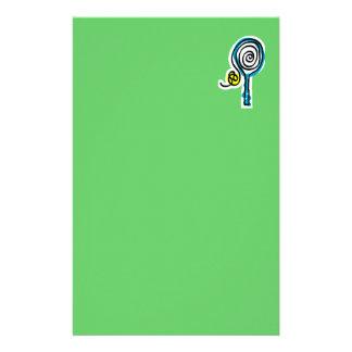 カラフルなテニスの螺線形ロープの文房具 便箋