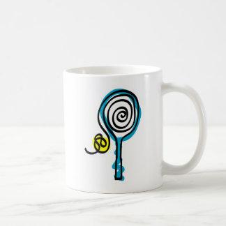 カラフルなテニスの螺線形ロープ コーヒーマグカップ