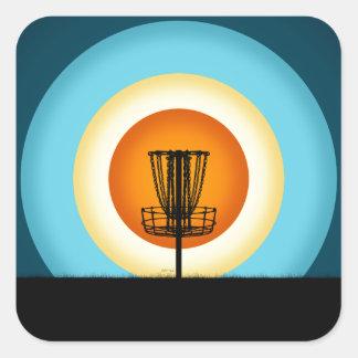 カラフルなディスクゴルフバスケット スクエアシール