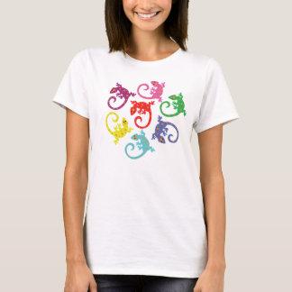 カラフルなトカゲ Tシャツ