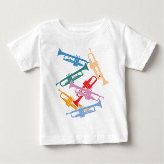 カラフルなトランペット ベビーTシャツ
