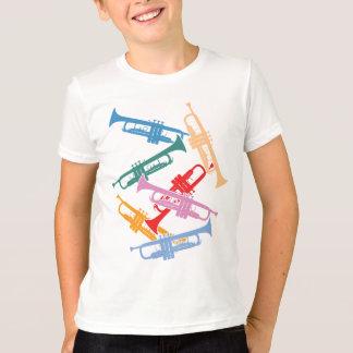 カラフルなトランペット Tシャツ