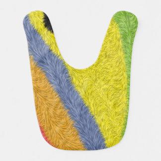 カラフルなトレンディーの抽象芸術パターン ベビービブ