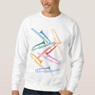 カラフルなトロンボーン スウェットシャツ