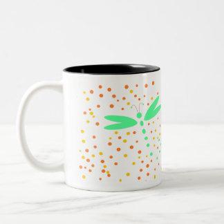 カラフルなトンボ ツートーンマグカップ