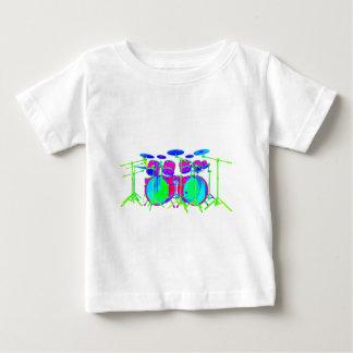 カラフルなドラムキット ベビーTシャツ