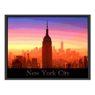 カラフルなニューヨークシティ ポストカード
