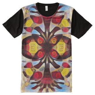 カラフルなネイティブアメリカンの動物のトーテムの精神の芸術 オールオーバープリントシャツ