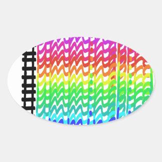 カラフルなハチドリ 楕円形シール
