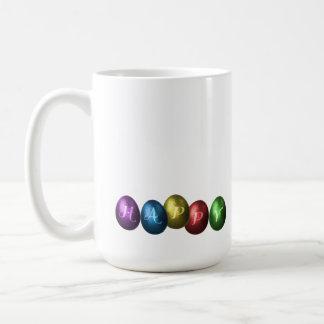 カラフルなハッピーイースターの卵-マグ コーヒーマグカップ