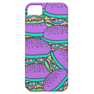 カラフルなハンバーガーの箱 iPhone SE/5/5s ケース