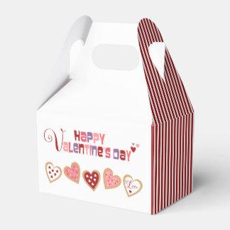 カラフルなハートのクッキーのバレンタインデー フェイバーボックス