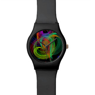 カラフルなハートの抽象芸術の落書きの腕時計 腕時計