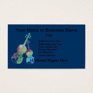 カラフルなバイオリンおよびビオラ 名刺